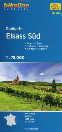 Bikeline Radkarte Elsass Süd (ELS03) 1 : 75.000, Diverse
