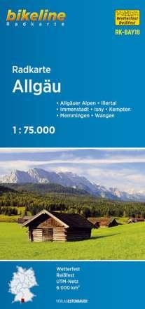 Radkarte Allgäu (RK-BAY18) 1:75.000, Diverse