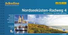 Nordseeküsten-Radweg. 1:75000 / Nordseeküsten-Radweg Teil 4, Buch
