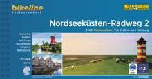 Nordseeküsten-Radweg. 1:75000 / Nordseeküsten-Radweg 2, Buch