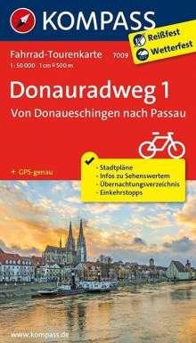 Donauradweg 1, Von Donaueschingen nach Passau 1 : 50 000, Diverse