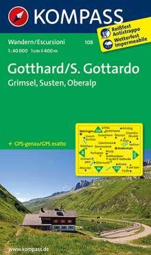 Gotthard / S. Gottardo - Grimsel - Susten - Oberalp 1 : 40 000, Diverse