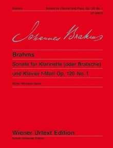 Johannes Brahms: Sonate für Klarinette (oder Bratsche) und Klavier f-Moll Op. 120 No. 1, Noten
