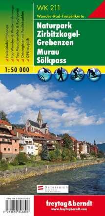 Naturpark Zirbitzkogel-Grebenzen - Murau - Sölkpass 1 : 50 000. WK 211, Diverse