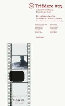 Triëdere #23: Der philologische Affekt, Buch
