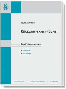 Karl-Edmund Hemmer: Rückgriffsansprüche, Buch