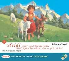Johanna Spyri: Heidi - Lehr- und Wanderjahre / Heidi kann brauchen, was es gelernt hat, 2 CDs