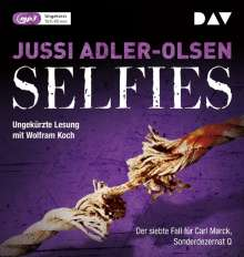 Jussi Adler-Olsen: Selfies. Der siebte Fall für Carl Mørck, Sonderdezernat Q, 2 MP3-CDs