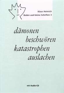 Klaus Heinrich: dämonen beschwören - katastrophen auslachen, Buch