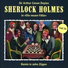 Sherlock Holmes - Die neuen Fälle 36. Remis In Zehn Zügen, CD