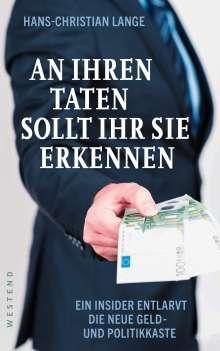 Hans-Christian Lange: An ihren Taten sollt ihr sie erkennen, Buch