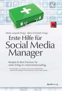 Andreas H. Bock: Erste Hilfe für Social Media Manager, Buch