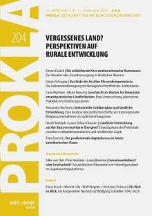 Prokla 204: Vergessenes Land? Perspektiven auf rurale Entwicklung, Buch