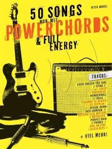 50 Songs nur mit Powerchords & Full Energy, für E-Gitarre, Noten