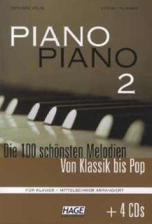 Piano Piano 2 mittelschwer + 4 CDs, Noten