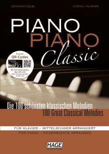 Piano Piano Classic mittelschwer, Exclusive QR-Codes, Noten