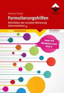 Andrea Friese: Formulierungshilfen, Buch