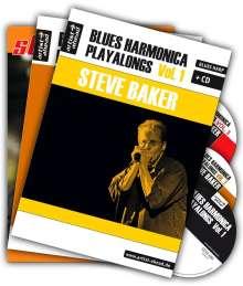Steve Baker: Blues Harmonica Playalongs Vol. 1-3 im Set, drei Bücher & drei CDs, Diverse