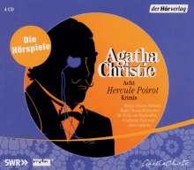 Agatha Christie: Acht Hercule Poirot Krimis, 4 CDs