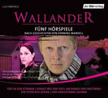 Henning Mankell (1948-2015): Wallander. Fünf Hörspiele. 1. Staffel, 5 CDs