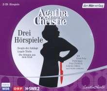 Agatha Christie: Drei Hörspiele, 2 CDs