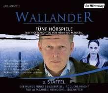 Henning Mankell (1948-2015): Wallander. Fünf Hörspiele. 2. Staffel, 5 CDs