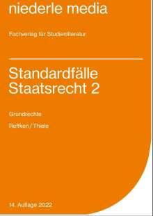 Hendrik Reffken: Standardfälle Staatsrecht II, Buch