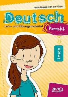 Hans-Jürgen van der Gieth: Deutsch korrekt - Lern- und Übungsmaterial: Lesen, Buch
