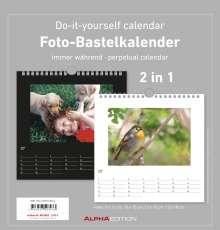 Foto-Bastelkalender s/w immerwährend, Kalender