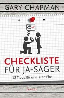 Gary Chapman: Checkliste für Ja-Sager, Buch
