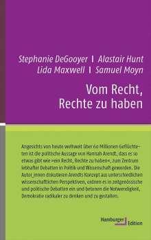 Alastair Hunt: Vom Recht, Rechte zu haben, Buch