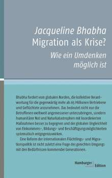 Jacqueline Bhabha: Migration als Krise?, Buch