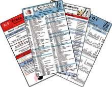 Altenpflege Karten-Set - med. Abkürzungen, Medikamente - Haltbarkeit nach Anbruch, Erste Hilfe, Laborwerte, Buch