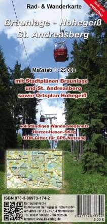 Braunlage - Hohegeiß - Sankt Andreasberg 1:25 000, Diverse