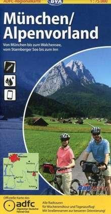 ADFC-Regionalkarte München / Alpenvorland 1 : 75 000, Diverse
