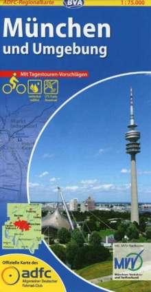 ADFC-Regionalkarte München und Umgebung 1 : 75 000, Diverse