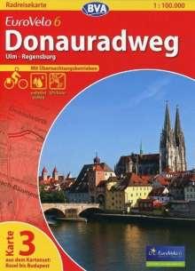 BVA-Radreisekarte Eurovelo 6 Karte 03 Donauradweg 1 : 100 000, Diverse