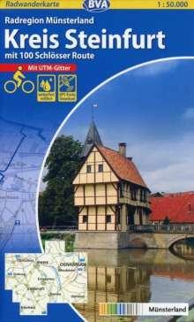 Radwanderkarte BVA Radregion Münsterland Kreis Steinfurt mit 100 Schlösser Route 1 : 50.000, Diverse