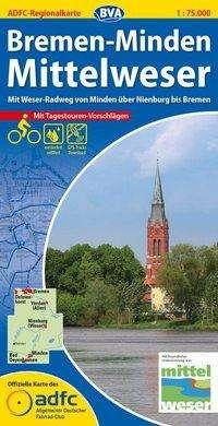 ADFC-Regionalkarte Bremen-Minden Mittelweser 1 : 75 000, Diverse