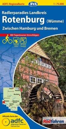 ADFC-Regionalkarte Radlerparadies Landkreis Rotenburg (Wümme) 1 : 75 000, Diverse