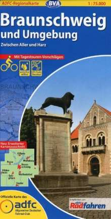 ADFC-Regionalkarte Braunschweig und Umgebung 1 : 75 000 mit Tagestouren-Vorschlägen, Diverse