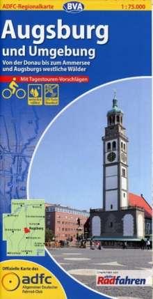 ADFC-Regionalkarte Augsburg und Umgebung mit Tagestouren-Vorschlägen 1 : 75 000, Diverse