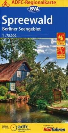 ADFC-Regionalkarte Spreewald /Berliner Seengebiet mit Tagestouren-Vorschlägen, 1:75.000, Diverse
