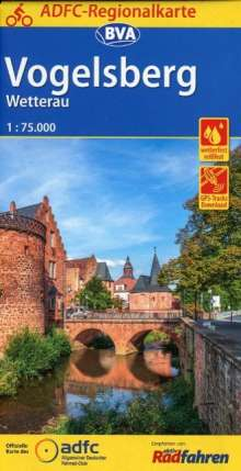 ADFC-Regionalkarte Vogelsberg Wetterau mit Tagestouren-Vorschlägen, 1:75.000, Diverse