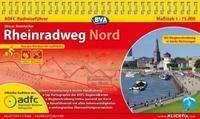 Otmar Steinbicker: ADFC-Radreiseführer Rheinradweg Nord 1 : 75.000, Buch