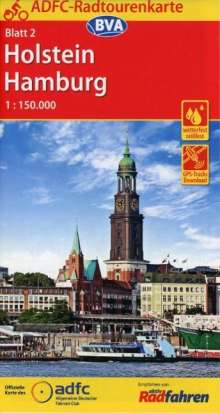 ADFC-Radtourenkarte 2 Holstein Hamburg 1:150.000, Diverse