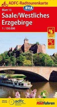 ADFC-Radtourenkarte 13 Saale /Westliches Erzgebirge 1:150.000, reiß- und wetterfest, GPS-Tracks Download, Diverse