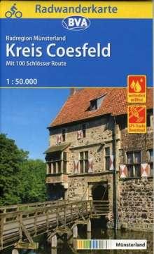 Radwanderkarte BVA Radregion Münsterland Kreis Coesfeld 1:50.000, Diverse