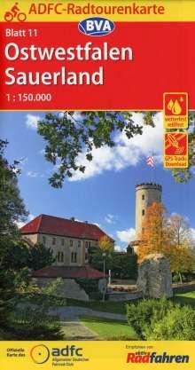 ADFC-Radtourenkarte 11 Ostwestfalen Sauerland 1:150.000, reiß- und wetterfest, GPS-Tracks Download, Diverse