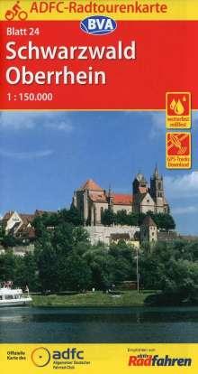 ADFC-Radtourenkarte 24 Schwarzwald / Oberrhein 1 : 150 000, Diverse